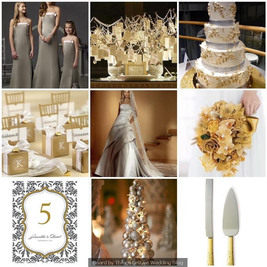 Золотая свадьба — элементы стиля